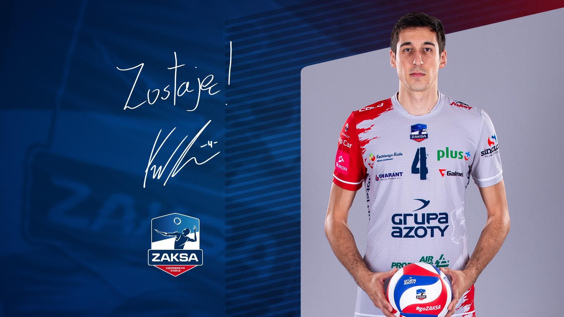 Krzysztof Rejno zostaje w ZAKSIE